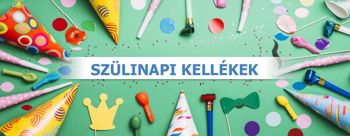 Születésnapi party kellékek és kiegészítők 2021