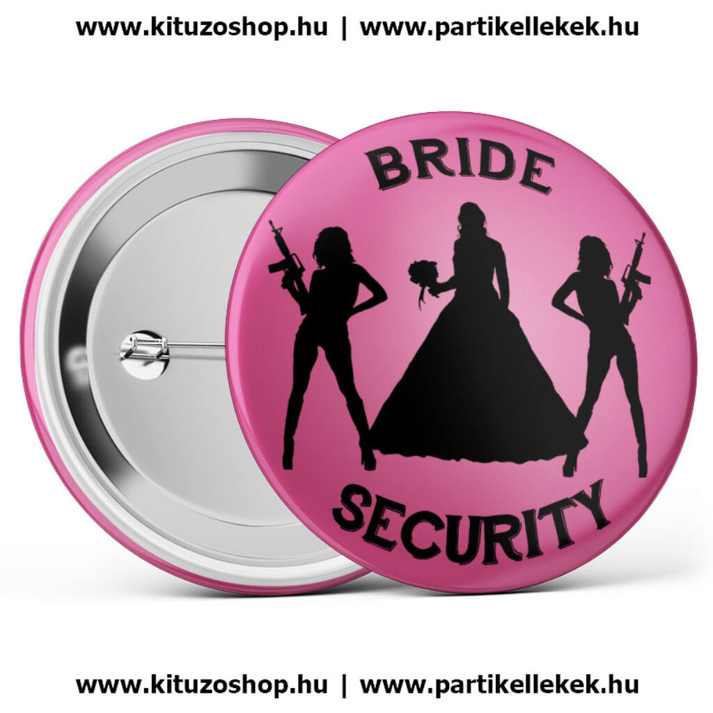 Bride Security kitűző rózsaszín A kép illusztráció! Nagyításhoz kattints rá! f1ae2c73ae