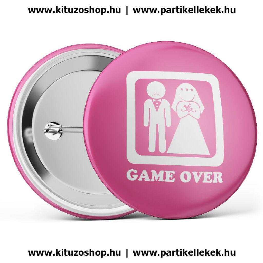 Game over kitűző lánybúcsúra és legénybúcsúra A kép illusztráció! Nagyításhoz  kattints rá! 280922b67c