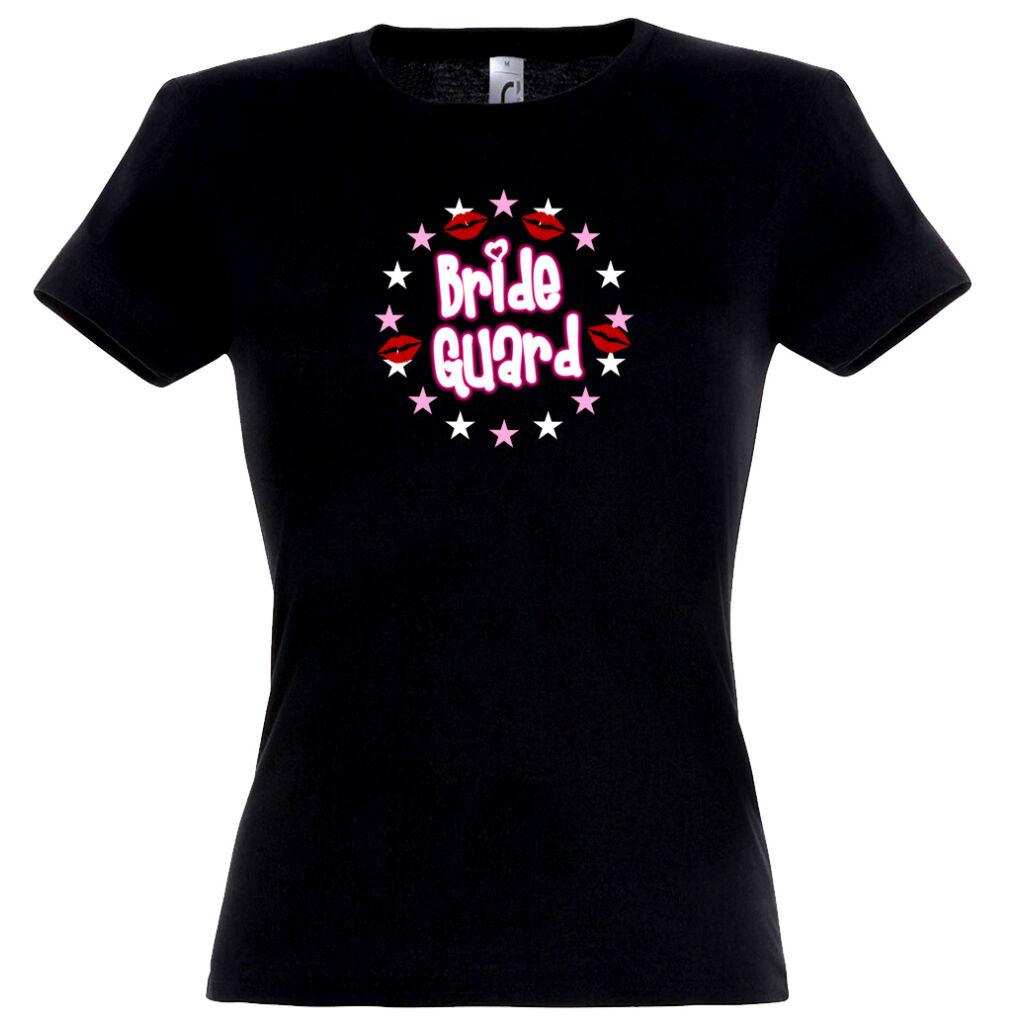 44558791d1 Bride Guard csillagos lánybúcsú póló fekete A kép illusztráció! Nagyításhoz  kattints rá!