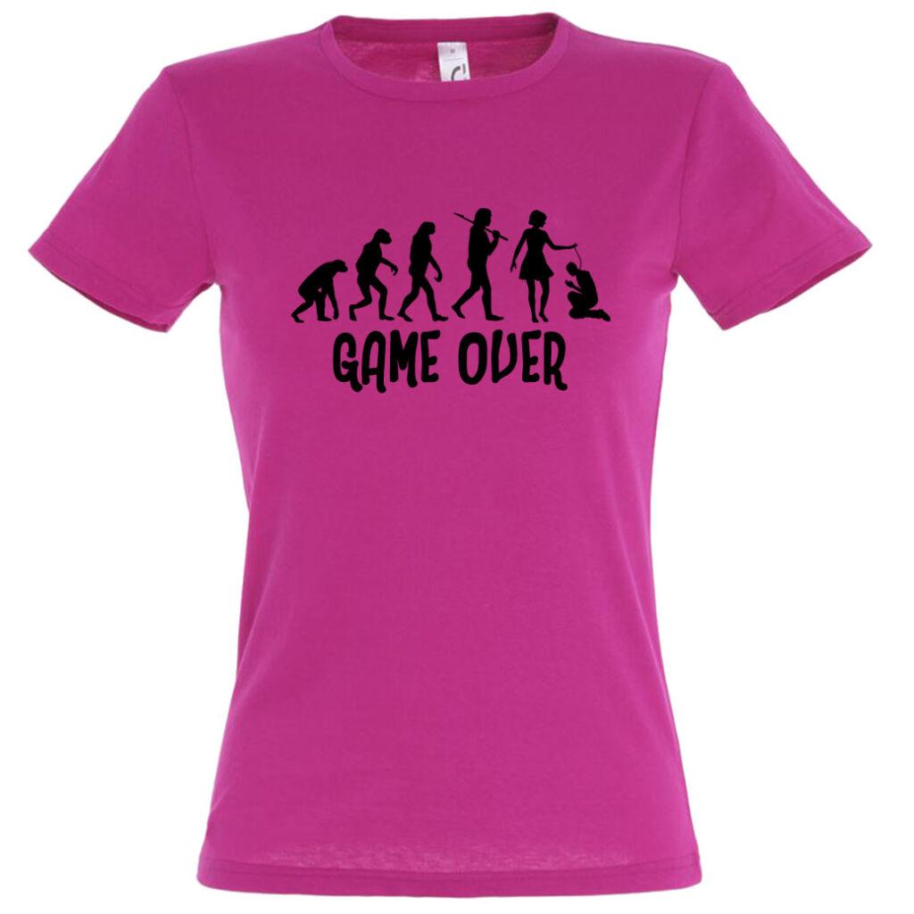 e1ec28276f Game Over Evolúció I. lánybúcsú póló fuchsia A kép illusztráció!  Nagyításhoz kattints rá!