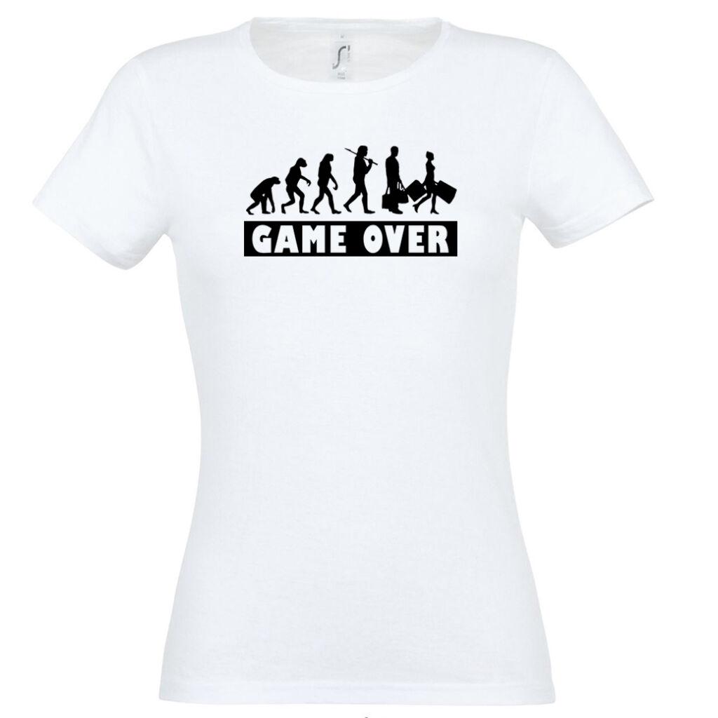 b1f0b3389c Game Over Evolúció II. lánybúcsú póló fehér A kép illusztráció! Nagyításhoz  kattints rá!