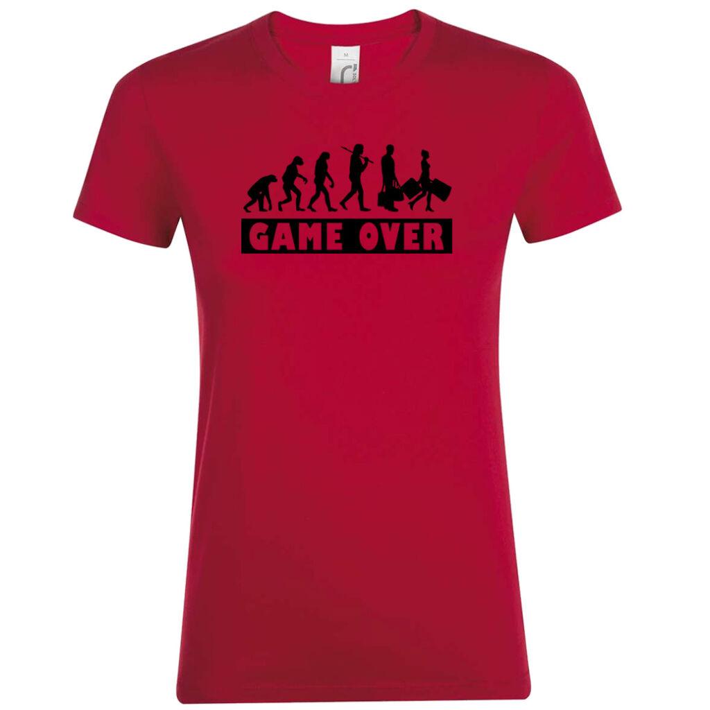 15cb89df38 Game Over Evolúció II. lánybúcsú póló piros A kép illusztráció! Nagyításhoz  kattints rá!