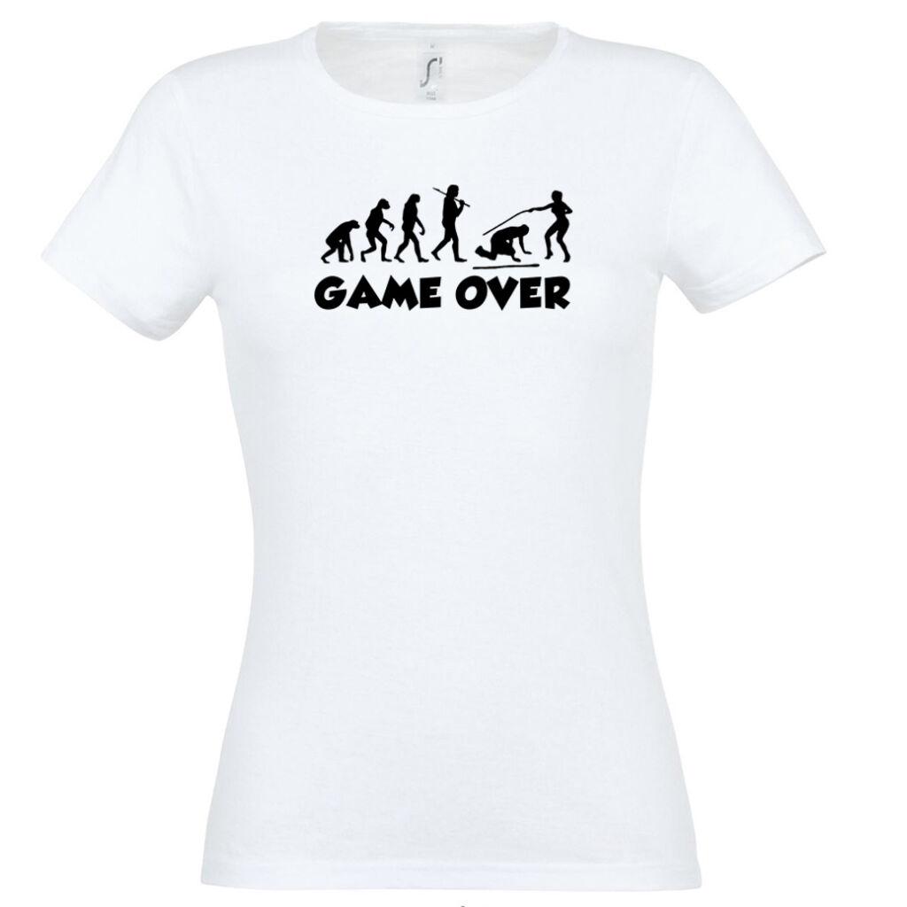 fae6d8b085 Game Over Evolúció III. lánybúcsú póló fehér A kép illusztráció!  Nagyításhoz kattints rá!