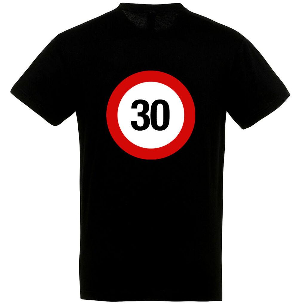 Sebességkorlátozó 30. születésnapi póló fehér A kép illusztráció!  Nagyításhoz kattints rá! bc379833cb