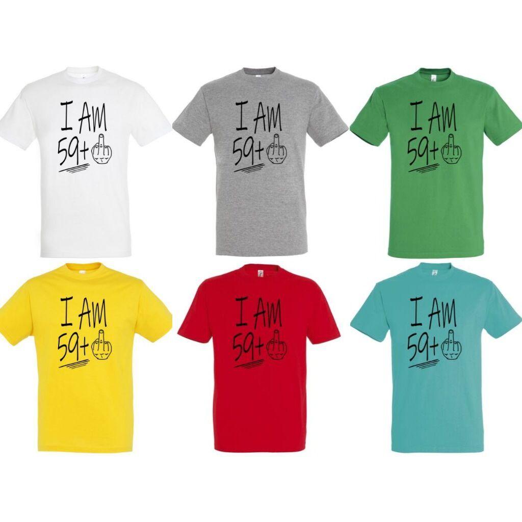 f2da1b6cbe I am 59+1 feliratos és vicces póló 60. születésnapra