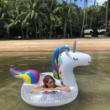Óriás csillogó unikornis úszógumi