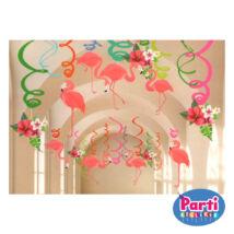 Flamingó függő dekoráció DIY 12+4+2db-os