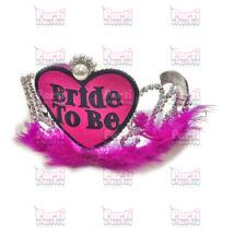 Bride to be tollas, gyöngyös tiara magenta
