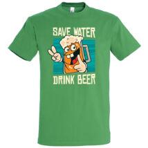Save water, drink beer póló több színben