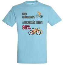Napi előrejelzés: a bicajozás esélye 99%  póló több színben