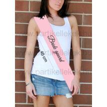 Vállszalag a kisérőknek lánybúcsúra rózsaszín színben 236a35575b