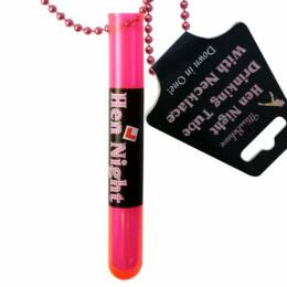 Nyakba Akasztható Pink Kémcsöves Feles Pohár Lánybúcsúra