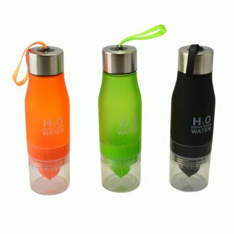 H2O kulacs gyümölcsfacsaróval Zöld
