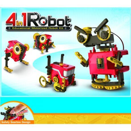 4 in 1 motorizált robot szett