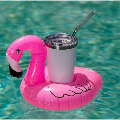 Flamingó felfújható italtartó