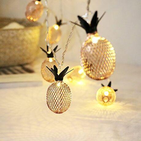 Arany ananász LED fényfüzér