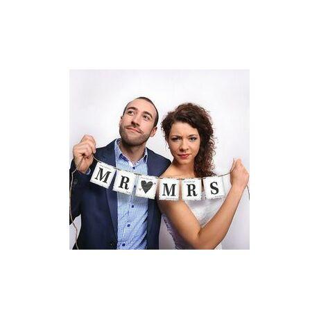 Mr. (Love) Mrs. Esküvői Füzér - 77 cm Party kellék