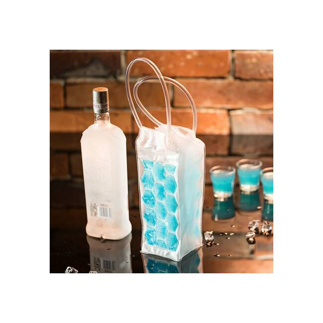Hűtőtáska palackhoz - kék