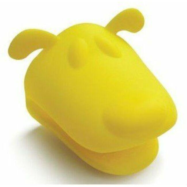 Szilikon edényfogó kesztyű - sárga kutyafej