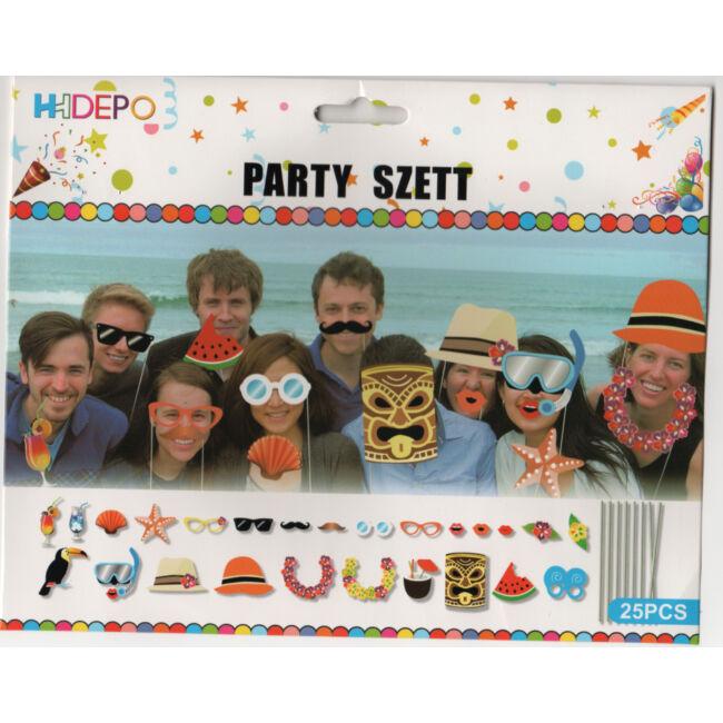 Pálcikás party fotó kiegészítő hawaii témában. 25db-os