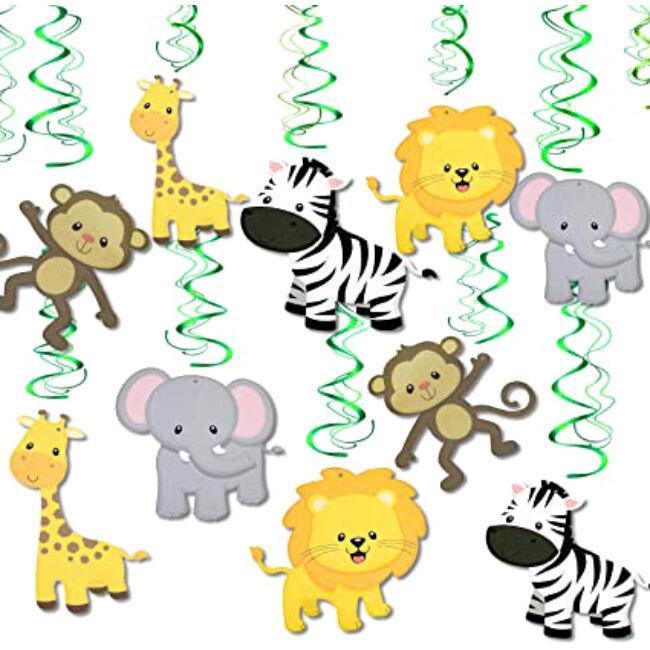A dzsungel állatai party függő dekoráció