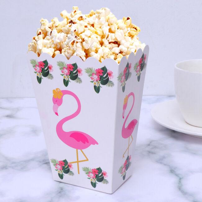 Flamingó snack tasak - fehér, 6db-os