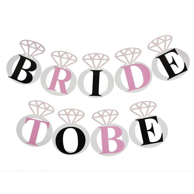 Bride To Be banner, gyűrűs