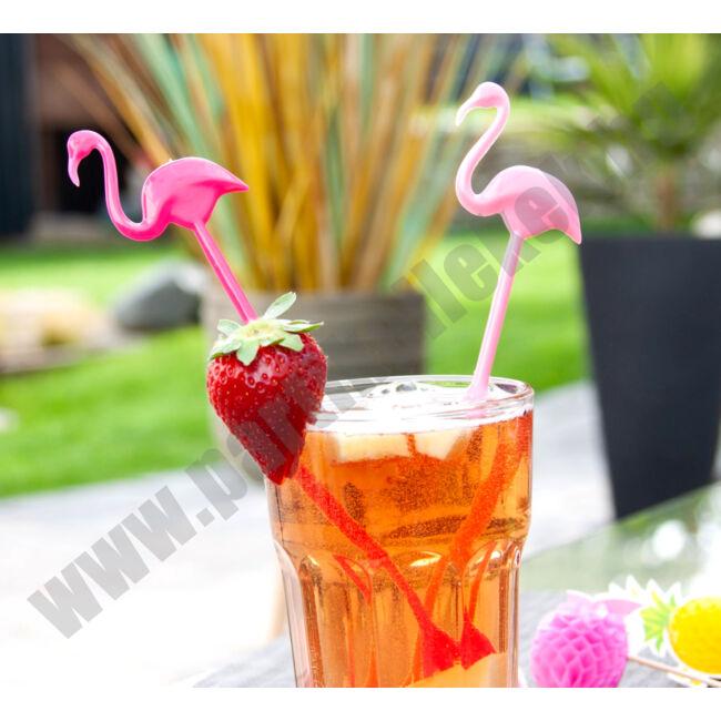 Flamingós koktékeverő pálca
