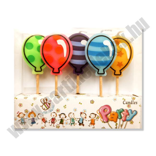Lufis születésnapi gyertyakészlet, 5db-os