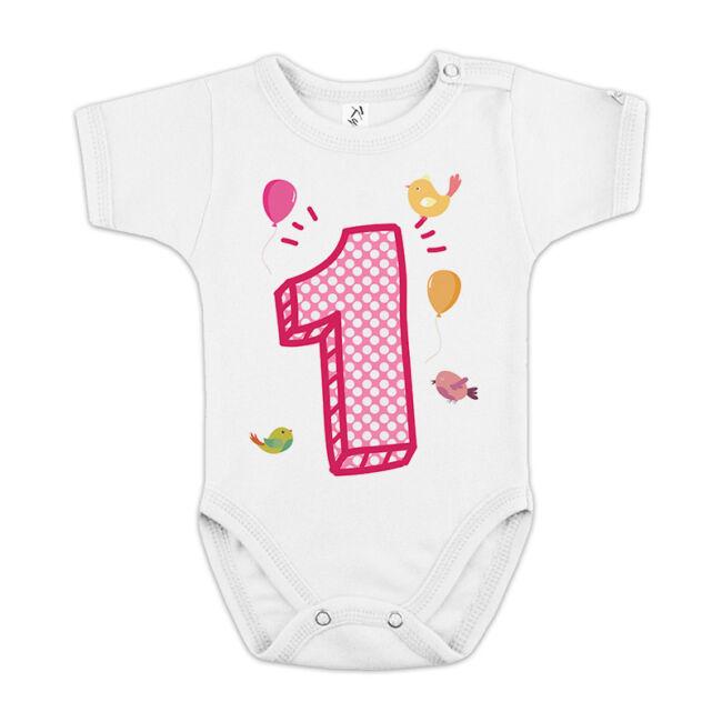 Első születésnap lányoknak fehér body