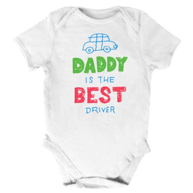 Daddy is the best driver fehér body