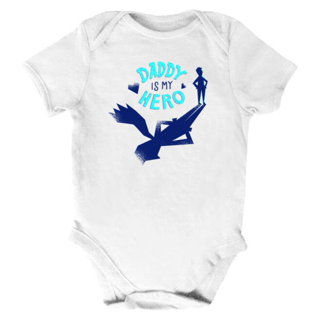 Daddy is my hero fehér body