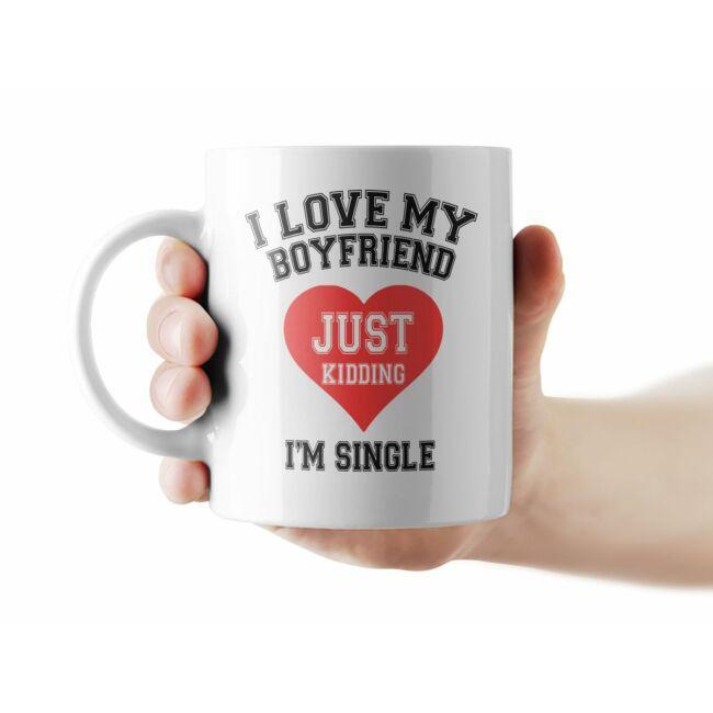 I love my boyfriend. Just Kidding I'm Single bögre