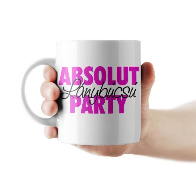 Absolut lánybúcsú party bögre