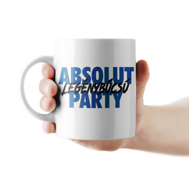 Absolut legénybúcsú party bögre