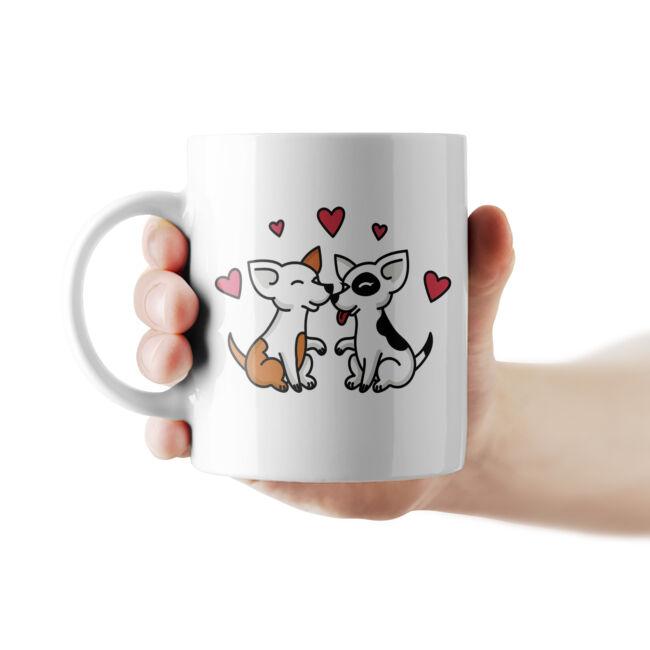 Szerelmes kutyák bögre