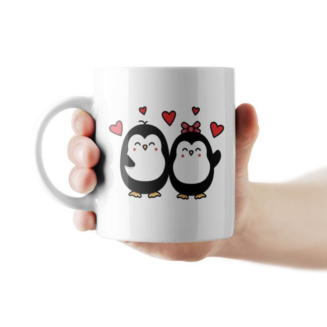 Szerelmes Pingvinek bögre