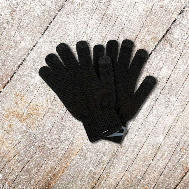 Kötött kesztyű érintőkijelzős telefonokhoz Fekete-sötétszürke