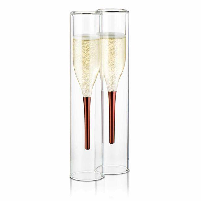 Kifordított pezsgős pohár 2 db-os szett