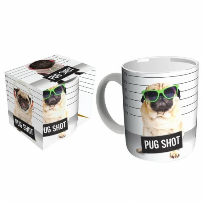 Pug shot bögre