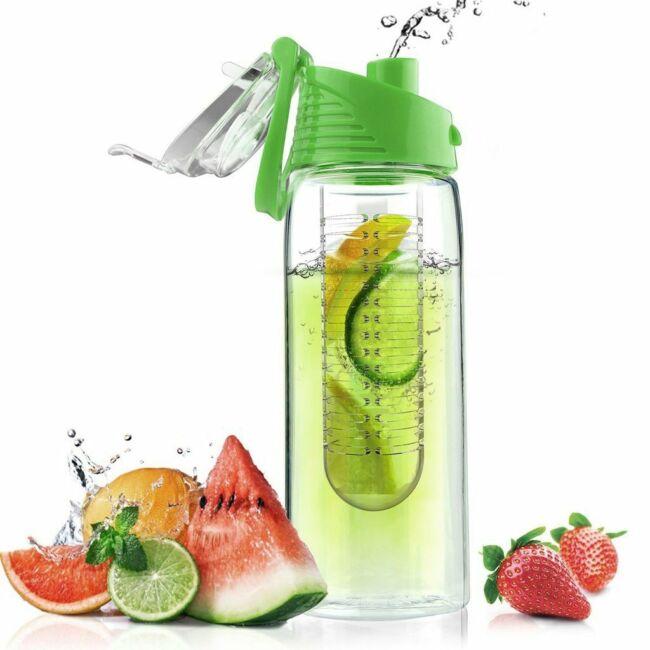 Infuser kulacs gyümölcstartó betéttel 700 ml Zöld