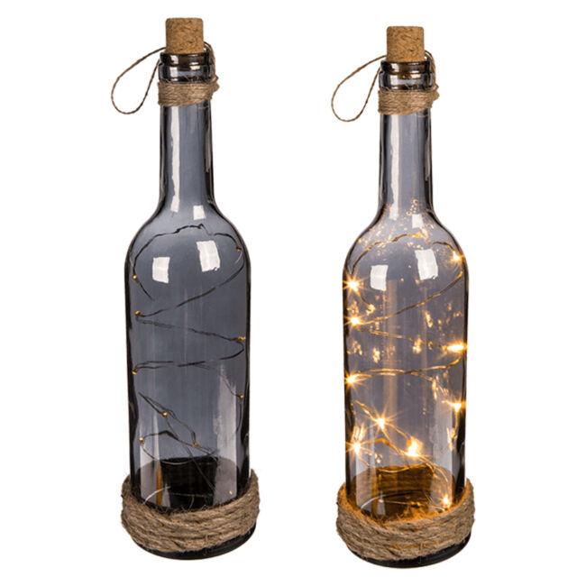 Füstüveg palack hangulatvilágítás 10 Led-del