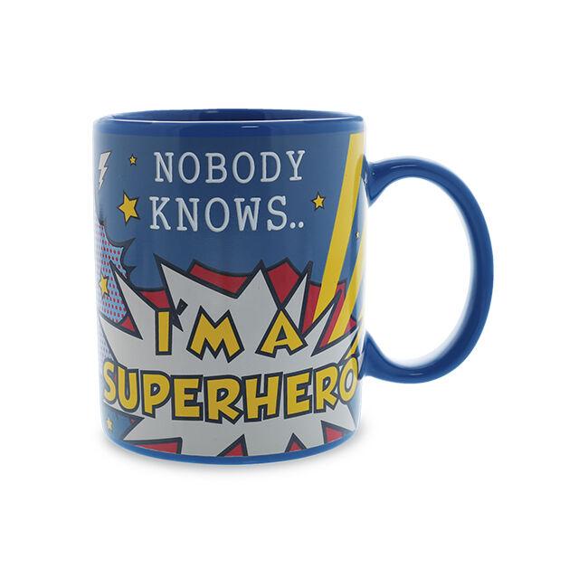 Nobody Knows I'm A Superhero hőre változó bögre