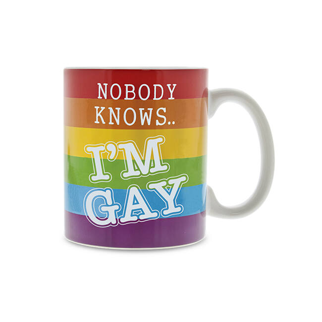 Nobody knows I'm gay hőre változó bögre