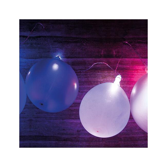 Lufi LED-es fényfüzér - 10 db lufival