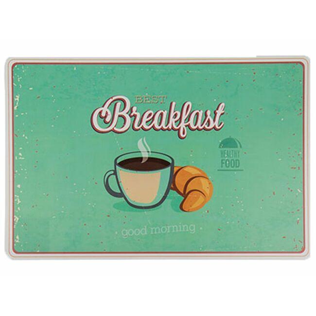 Reggeli vintage tányéralátét breakfast