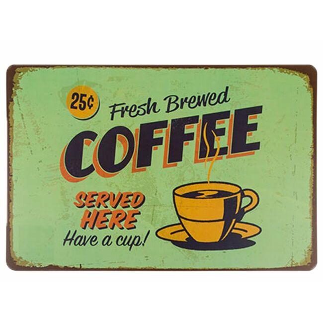 Reggeli vintage tányéralátét coffe