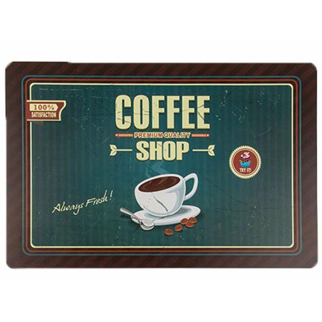 Reggeli vintage tányéralátét coffee shop sötét