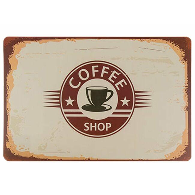 Reggeli vintage tányéralátét coffee shop világos
